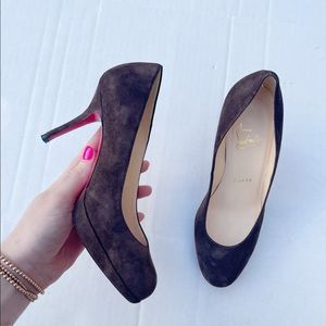 Christian Louboutin New Simple Pump Brown Suede